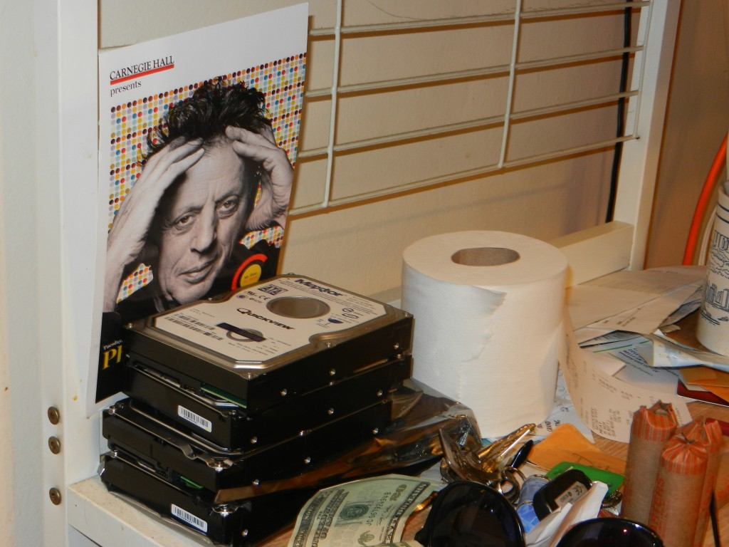 Hard Drives, Charmin, Philip Glass.