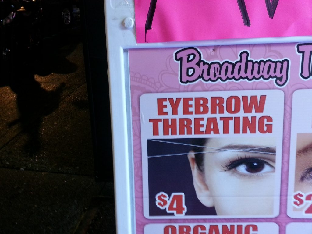EYEBROW THREATING