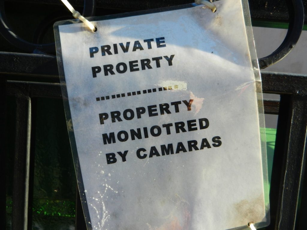 PRIVATE PROERTY MONIOTRED BY CAMARAS