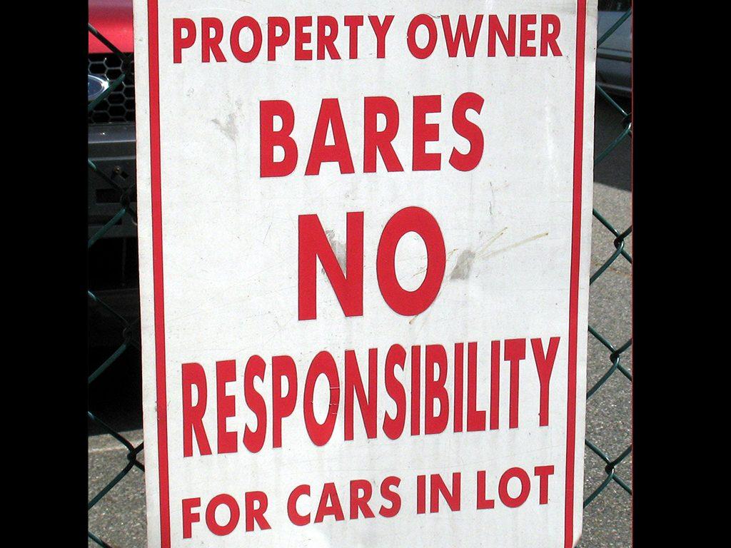BARES NO RESPONSIBILITY