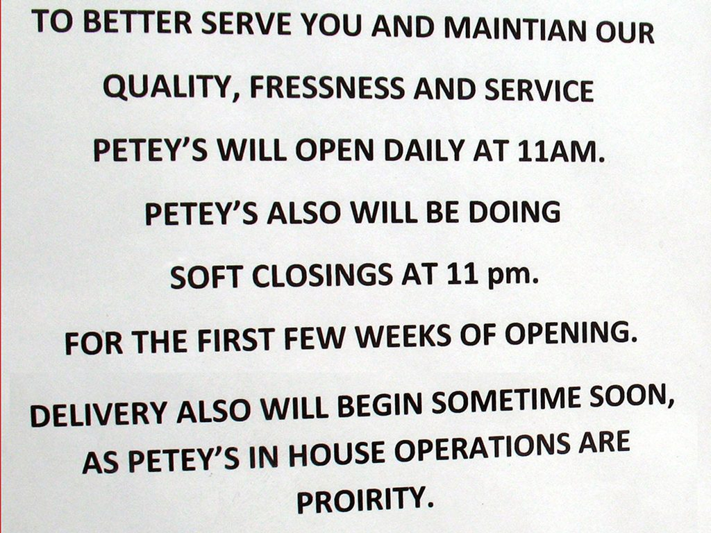 MAINTIAN FRESSNESS IS PETEY'S PROIRITY