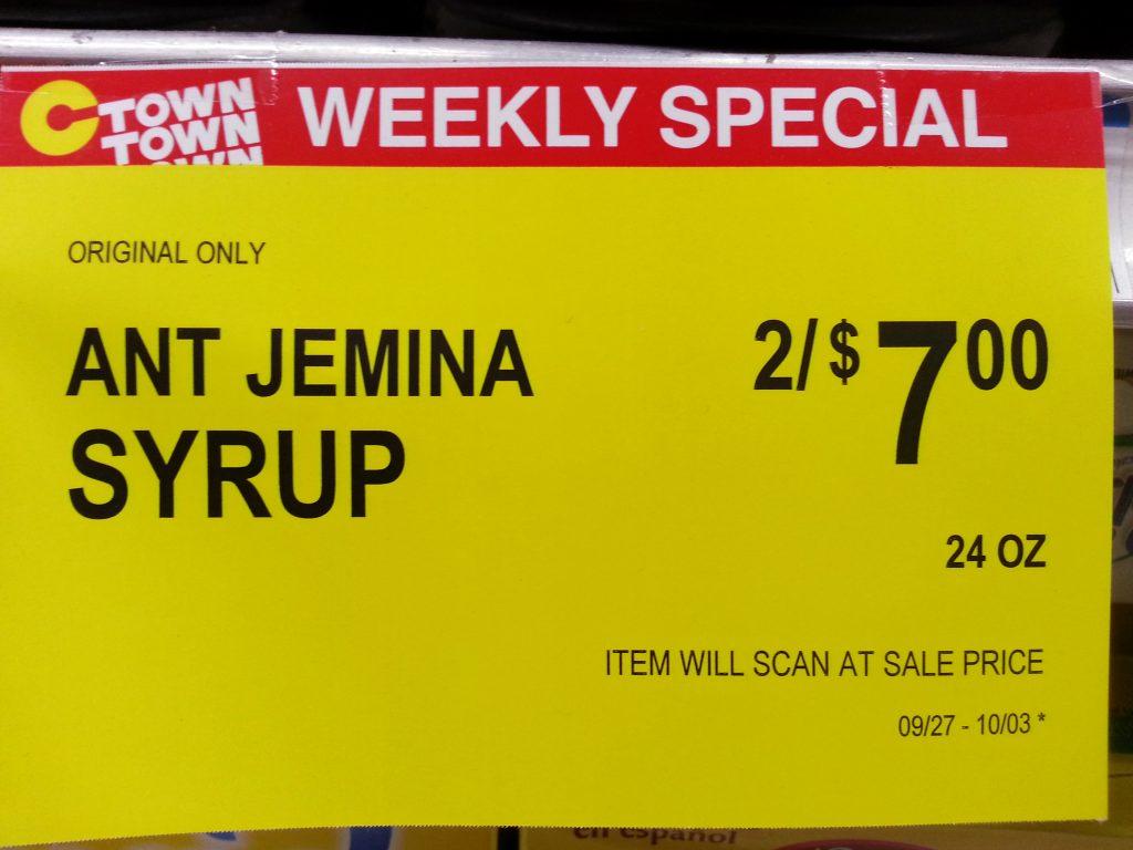 ANT JEMINA SYRUP