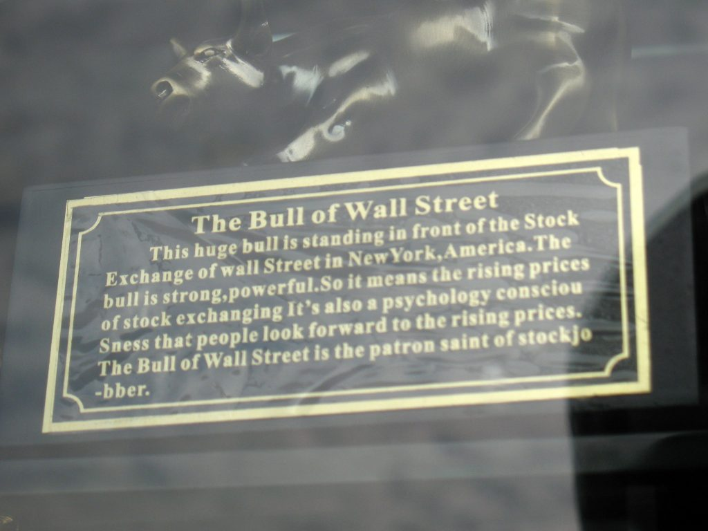 BULL OF WALL STREET ENGRISH