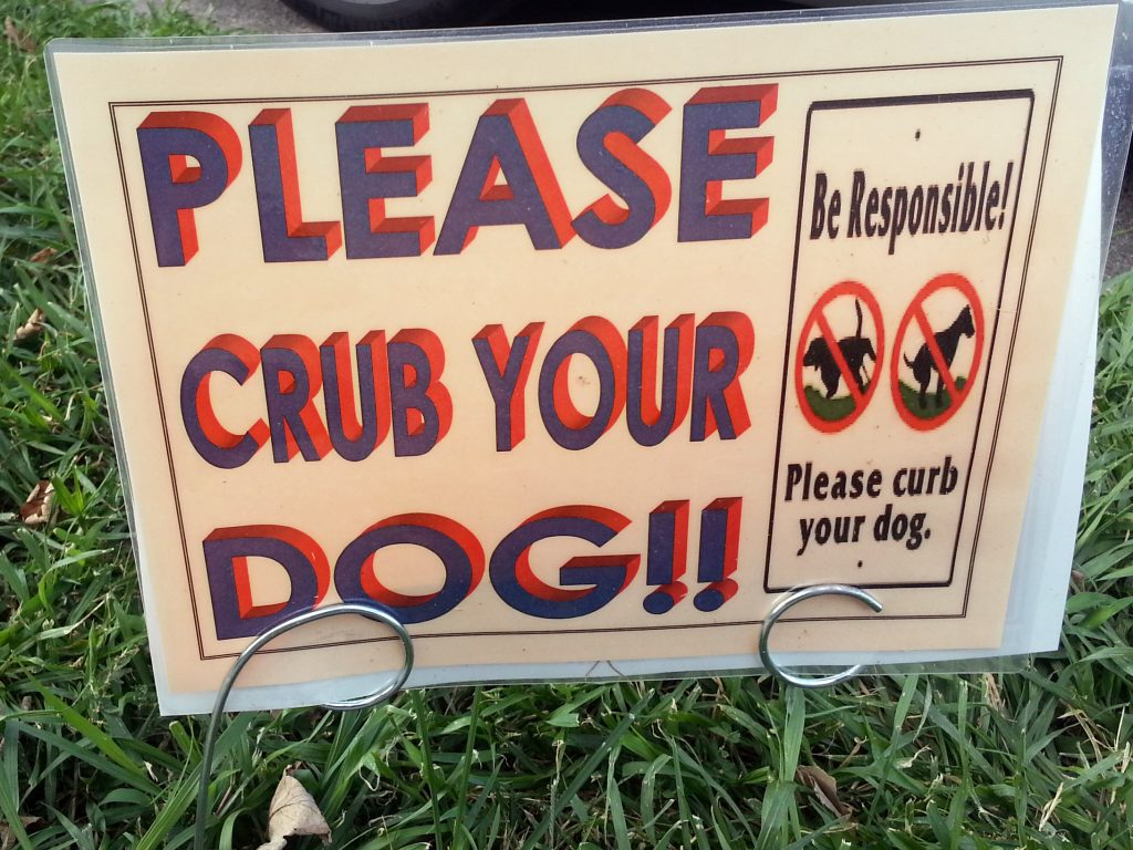 CRUB YOUR DOG