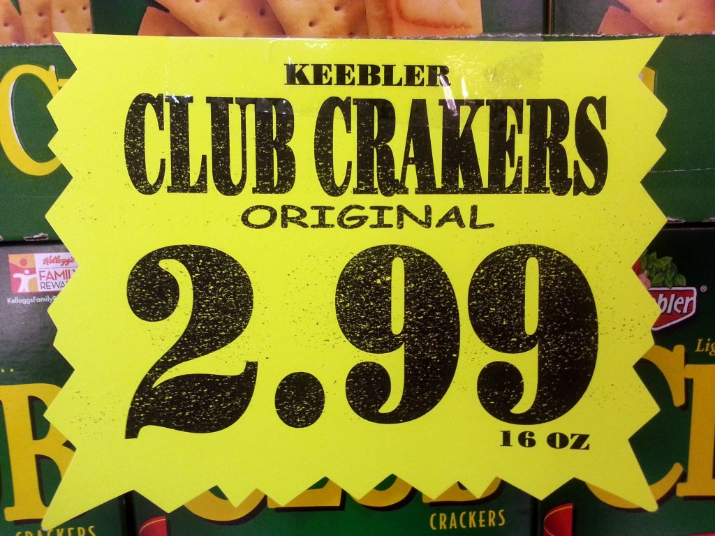 KEEBLER CLUB CRAKERS