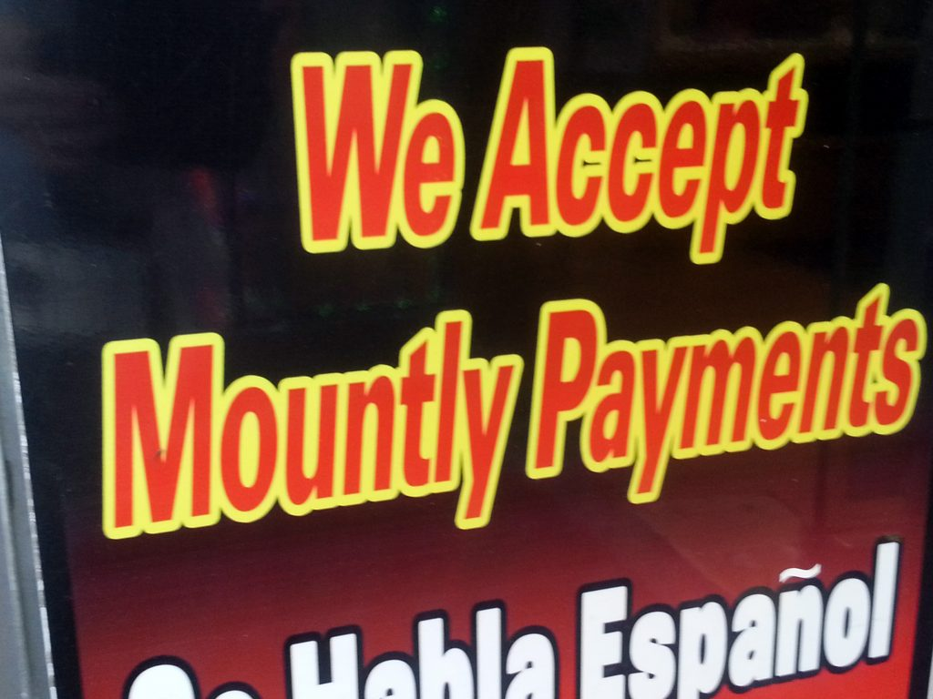 MOUNTLY PAYMENTS