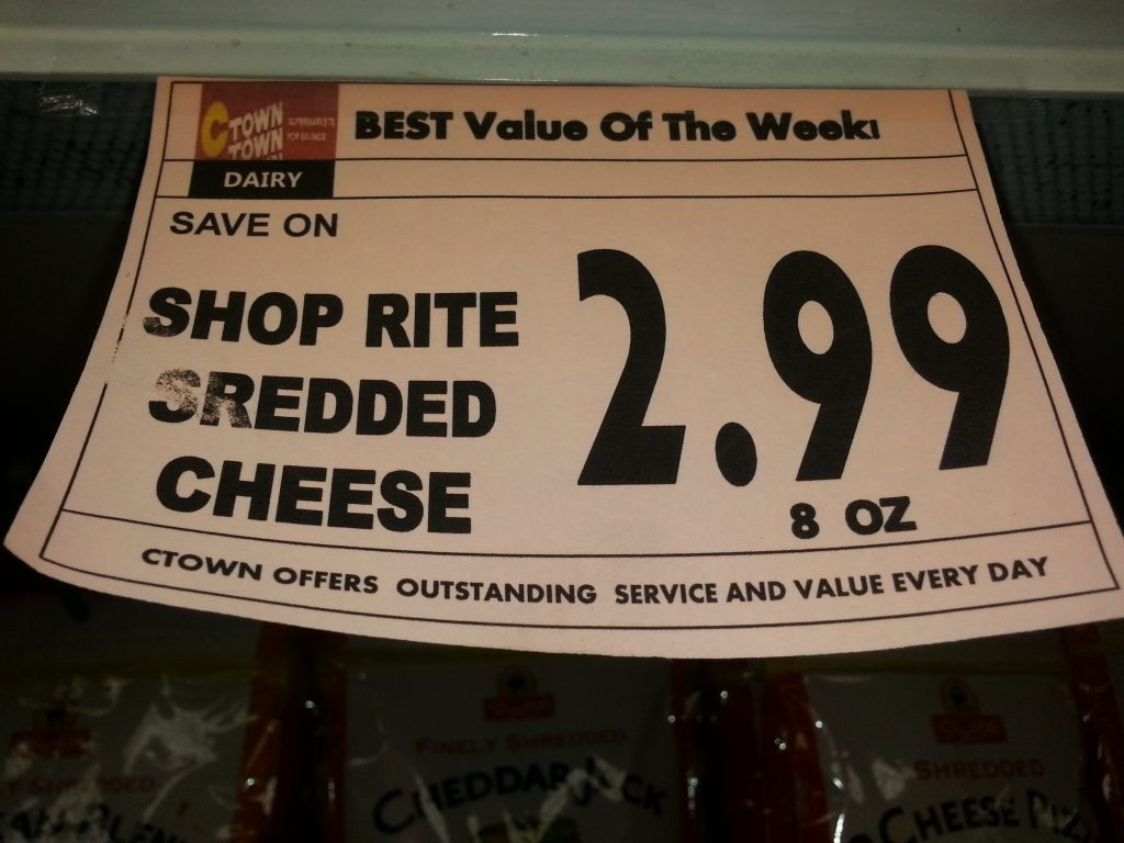 SREDDED CHEESE