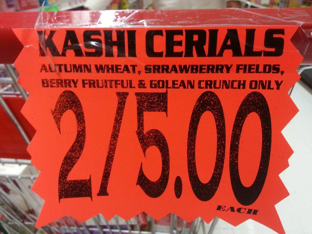 KASHI CERIALS, SRRAWBERRY FIELDS