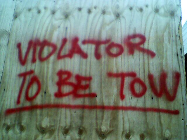 VIOLATOR TO BE TOW