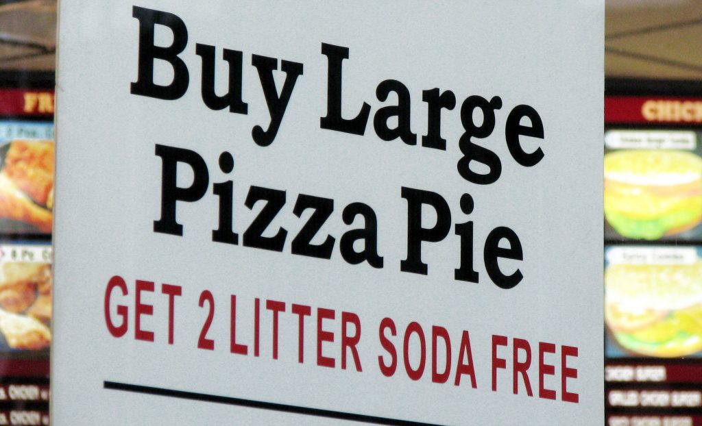 GET 2 LITTER SODA FREE