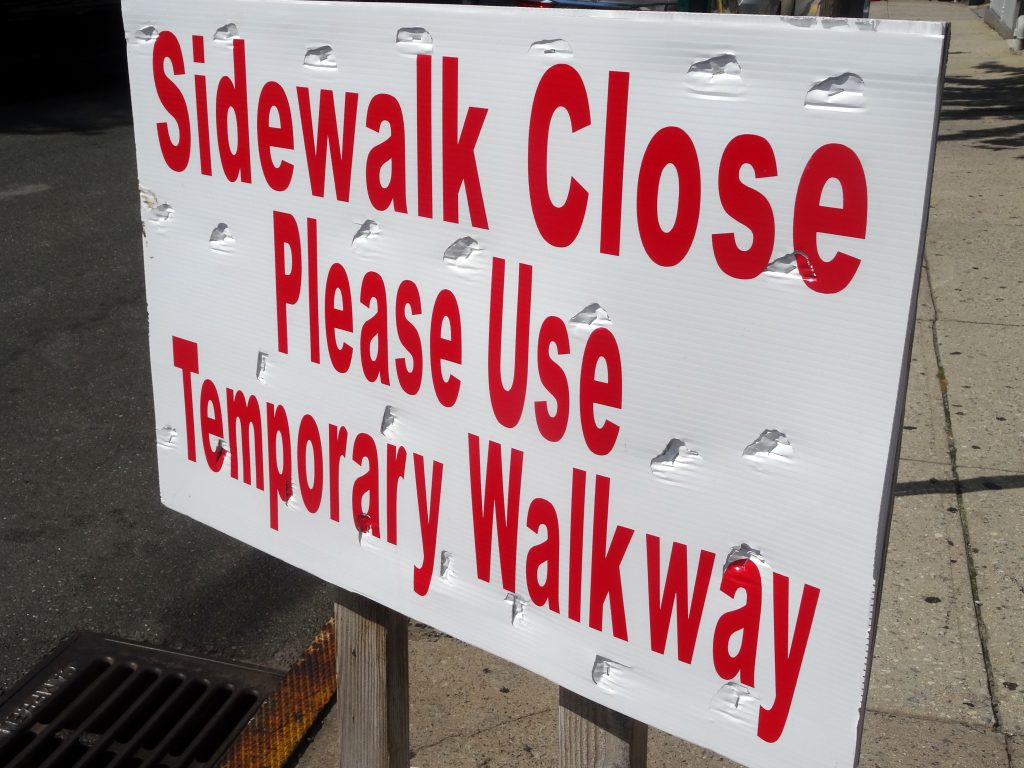 SIDEWALK CLOSE