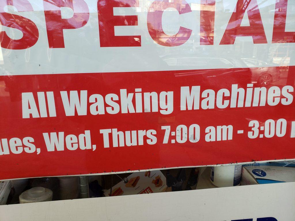 WASKING MACHINES