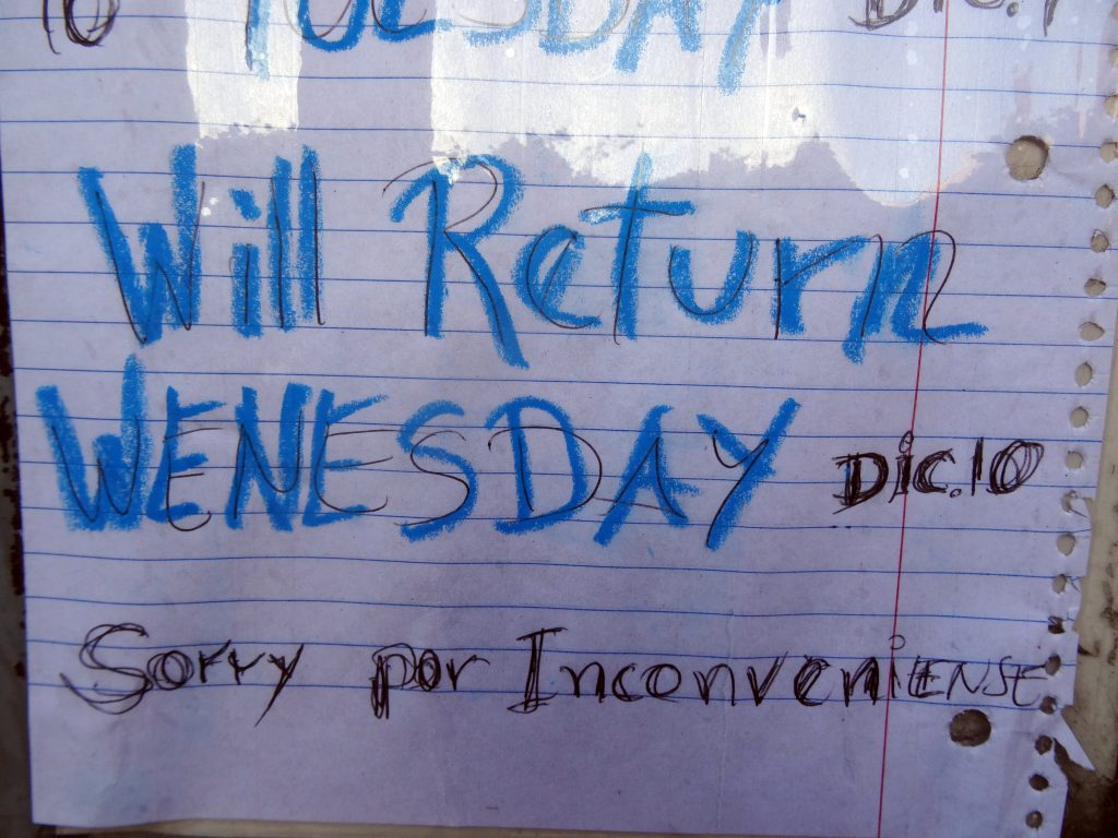WENESDAY DIC. 10 INCONVENIENSE