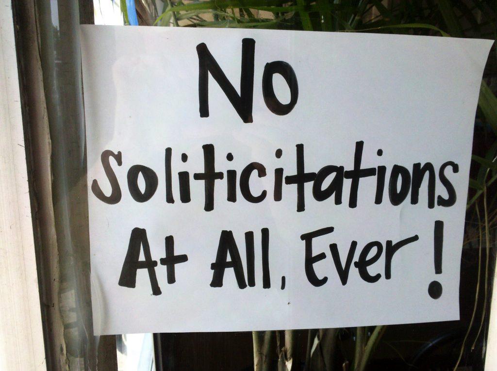 SOLITICITATIONS