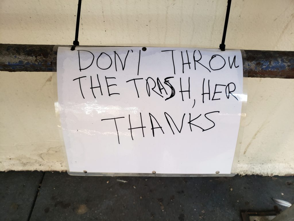 DON`I THROW THE TRASH, HER THANKS