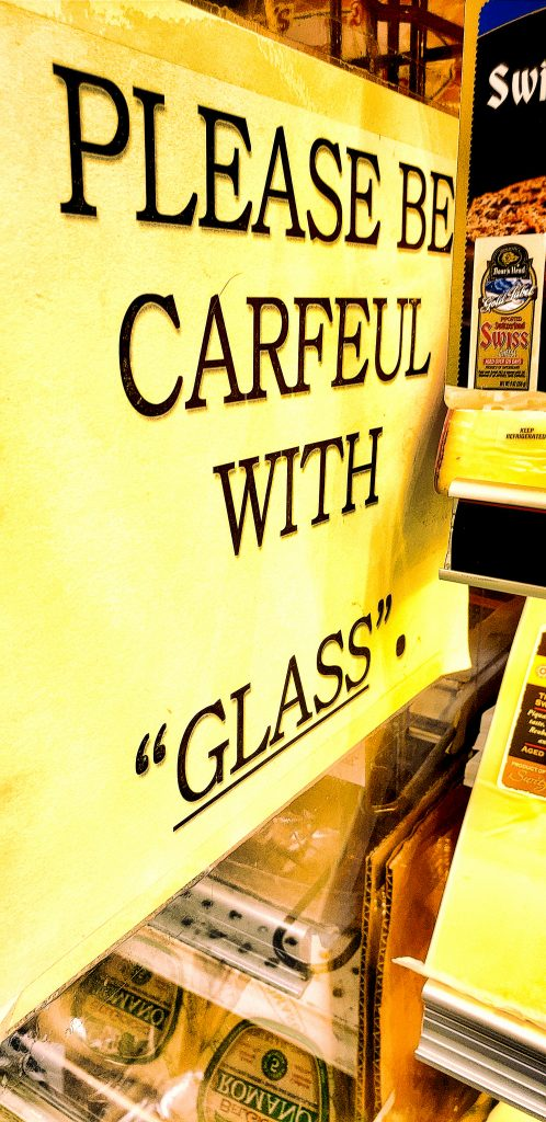 """PLEASE BE CARFEUL WITH """"GLASS""""."""